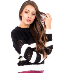 blusa tricot carlan listrada vacani decote redondo