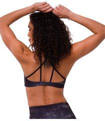 onzie women's graphic mudra yoga sports bra - bronze tie dye sm