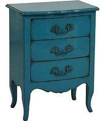 komoda eclectic z szufladami niebieska