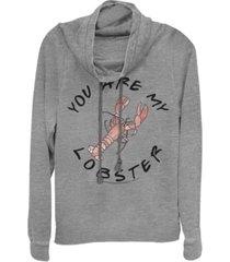 juniors warner bros friends tv you are my lobster cowl neck sweatshirt