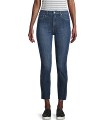 7 for all mankind women's highwaisted ankle skinny jeans - east blue - size 29 (6-8)