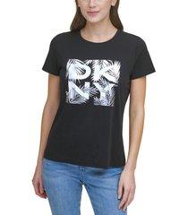 dkny crewneck logo t-shirt