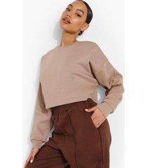 basic korte sweater, taupe