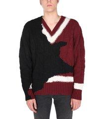 alexander mcqueen sweater with ink bleeding inlay
