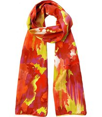natori watercolor scarf, women's, chili natori