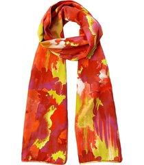 natori watercolor scarf, women's