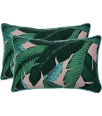 swaying palms capri rectangular throw pillow, set of 2