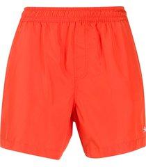 ermenegildo zegna classic swim shorts - orange