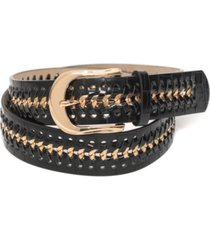 inc croc-embossed metal link belt, created for macy's