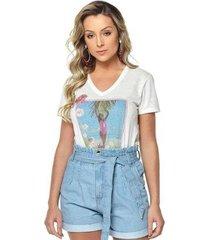 t-shirt daniela cristina gola v 11 602dc10294 branco pp - feminino