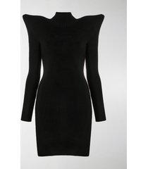 balenciaga structured shoulder dress