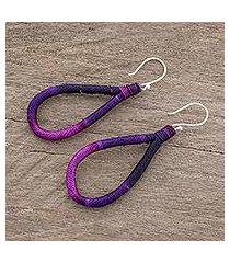 dangle earrings, 'harmony and beauty in purple' (guatemala)