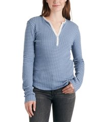 lucky brand pointelle henley thermal top