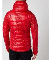 canada goose men's hybridge lite hooded jacket - red - xl