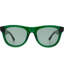 bottega veneta bottega veneta bv1001s green sunglasses