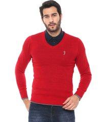 suéter aleatory tricot liso vermelho - kanui