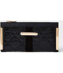 river island womens black ri embossed patent foldout purse