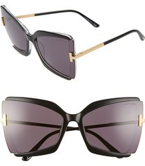 women's tom ford gia 63mm oversize butterfly sunglasses -