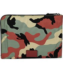 camo-print document case