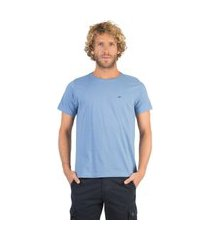 t-shirt básica fit azul azul/m