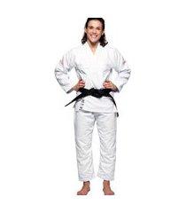 kimono jiu jitsu atama trançado infinity collab feminino - branco