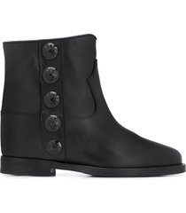 paul warmer selena pull-on ankle boots - black