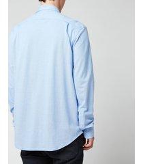 polo ralph lauren men's custom fit mesh oxford shirt - harbour island blue - xxl
