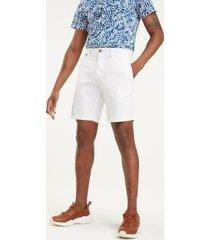 tommy hilfiger men's belted lightweight twill short bright white - 40