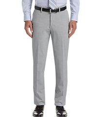 haggar j.m. haggar premium light grey 4-way stretch slim fit dress pants