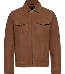 jprric leather jacket leren jack leren jas bruin jack & j s