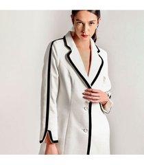 chaqueta para mujer en paño blanco color-blanco-talla-xl