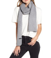 women's rebecca minkoff traveling rib scarf, size one size - grey