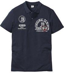 polo a maniche corte con stampa (blu) - john baner jeanswear