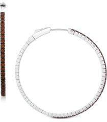 blue topaz hoop earrings (2-5/8 ct. t.w.) in sterling silver (also available in rhodolite garnet & amethyst)