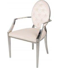 krzesło modern barock glamour beżowe 92cm