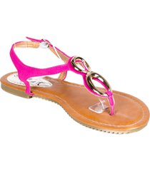 victoria k women fuchsia gladiator sandals flats thongs,8