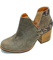 botín cuero florencia taupe amano shoes