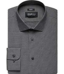awearness kenneth cole gray squares slim fit dress shirt