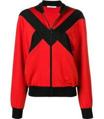 contrast panel zipped jacket