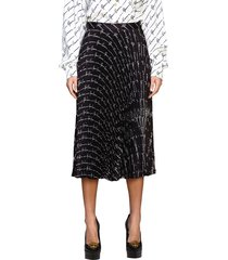 versace skirt versace pleated skirt with all over signature
