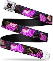 disney alice in wonderland cheshire cat eyes logo seatbelt belt adjustable waist