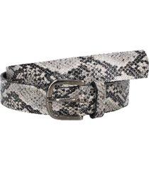 cinturón cuero colores y texturas gris