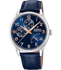 reloj f20278/b retro azul petróleo festina