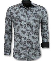 overhemd lange mouw tony backer blouse print in kraag