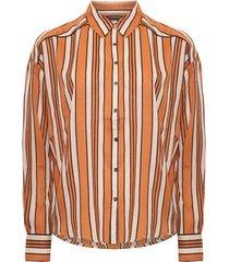 maison scotch 150655 19 boxy fit allover printed viscose mix shirt combo c zwart