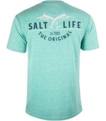 salt life men's leaping marlin tri-blend tee