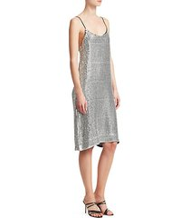 etta sequin slip dress