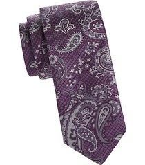 layered paisley silk tie