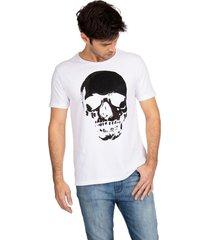 t-shirt caveira guess - branco - masculino - dafiti