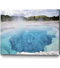 """giant art 24"""" x 18"""" sapphire pool museum mounted canvas print"""